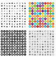 100 cinema actor icons set variant vector image vector image