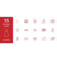 15 classic icons vector image vector image