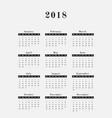 2018 year calendar vertical design vector image vector image