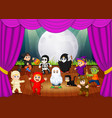 a scary hallowen costume collections vector image