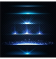 Abstract Lens Flares Collection Glowing stars vector image