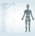 abstract medical background with male figure vector image vector image