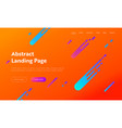 abstract orange geometric gradient shape web page vector image