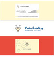 beautiful reindeer logo and business card vector image