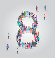 big people crowd forming number eight 8 shape vector image vector image