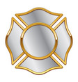 blank fire dept logo base silver with gold trim vector image vector image