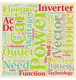 car power inverters an a c outlet on the road text vector image vector image