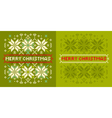 Christmas knitted pattern vector image vector image