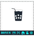 cocktail icon flat vector image vector image