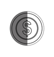 Coin money isolated vector image vector image