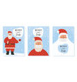 collection christmas greeting card vector image vector image