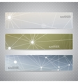 Collection horizontal banners on blurred vector image