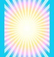 colorful rays background vector image