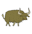 comic cartoon annoyed hairy cow vector image vector image