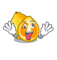 crazy ugly fruit in the character shape vector image vector image