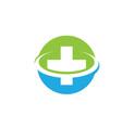 cross medical logo template vector image vector image