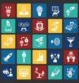 crowdfunding icons set on color squares background vector image