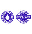 crystal water grunge stamp seals vector image vector image