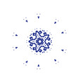 ethnic symbol in a geometric and symmetrical vector image
