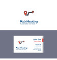 flat route logo and visiting card template vector image vector image