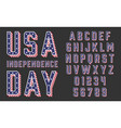 font usa flag stars and stripes vector image
