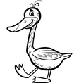 goose cartoon for coloring vector image vector image