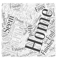 Home Decorating with Textured Paint Word Cloud vector image vector image