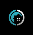 house realty round logo vector image