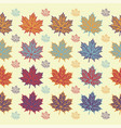 maple leaf seamless pattern on white background vector image vector image