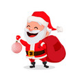 merry christmas funny santa claus vector image vector image