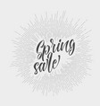 modern hipster spring sale vector image vector image