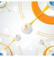 Modern orange design of info-graphics vector image vector image