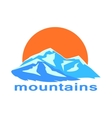 Mountains and the sun symbolic vector image vector image