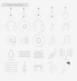 music set style line icons on white vector image vector image