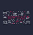new year concept line horizontal vector image