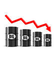 oil price fell in global market white vector image