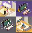 online education 2x2 concept vector image vector image