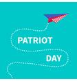 patriot day background paper plane dash line vector image