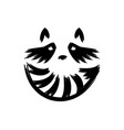 raccoon face logo with striped tail logo vector image vector image