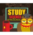 Recommendation banner to study science on-line vector image vector image