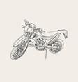 red motorbike sketch vector image vector image
