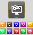 repair computer icon sign Set with eleven colored vector image