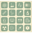 Retro science medical and education icons vector image