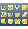 School smile stickers set vector image vector image