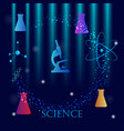 science research concept with chemical glass vector image vector image