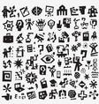 science symbols - icon set design vector image vector image