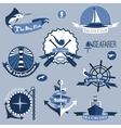 Sea Labels Set vector image vector image