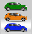 set of family vehicles of different colors vector image vector image