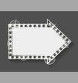shining empty banner with light bulbs retro frame vector image vector image