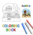 soldier coloring page vector image vector image